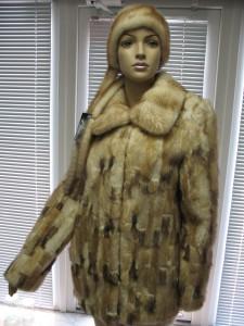 куртка з ондатри комір апаш