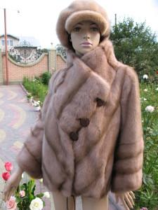 куртка медова комбінована стійка