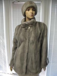 куртка норкова голубий сапфір
