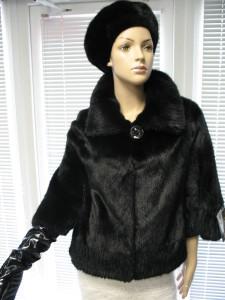 куртка норкова комб рельєфна стрижка