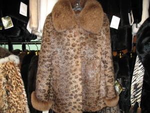 куртка нутрія тигровка з воротніком апаш песець