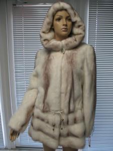 куртка світла комбінована канадка