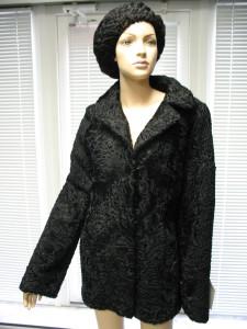 куртка чорний каракуль, англійський воротнік, руминія