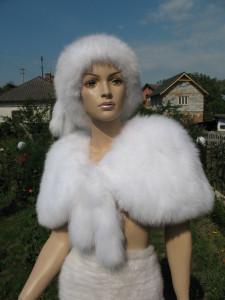 накидка на весільне плаття песець альбінос